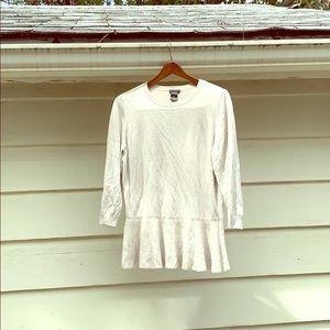 Ann Taylor Cream Quarter Sleeved Sweater Blouse